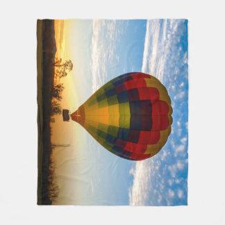 Hot Air Balloon Fleece Blanket