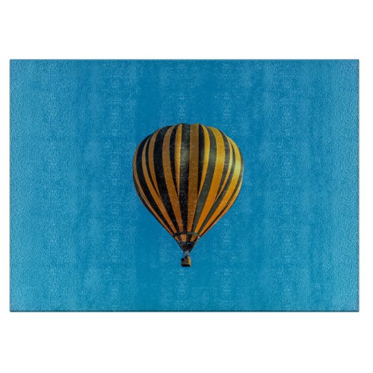 Hot air balloon glass cutting board