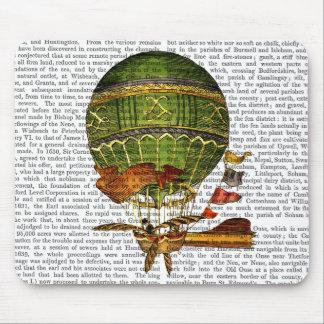 Hot Air Balloon Green Mouse Pad