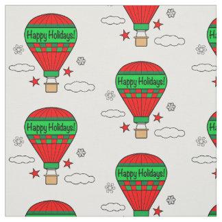 Hot-Air Balloon Happy Holidays! Fabric