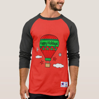 Hot-Air Balloon Happy Holidays! T-Shirt
