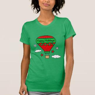Hot-Air Balloon Happy Holidays! T-Shirt