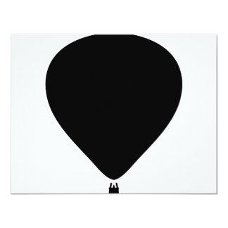 """hot-air balloon icon 4.25"""" x 5.5"""" invitation card"""