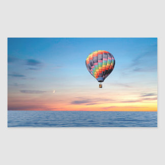 Hot Air Balloon image for  Rectangle Stickers