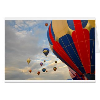 Hot Air Balloon in Reno Nevada Card