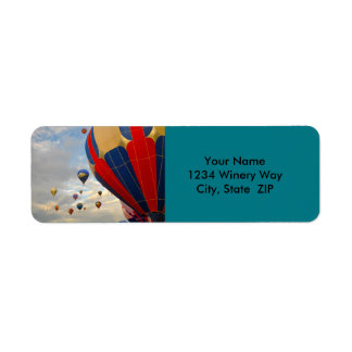 Hot Air Balloon in Reno Nevada Return Address Label