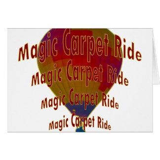 Hot air balloon - Magic Carpet Ride Card