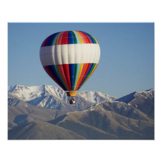 Hot-air Balloon, near Methven, Canterbury Poster