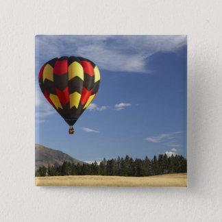 Hot Air Balloon near Wanaka, South Island, New 2 Inch Square Button