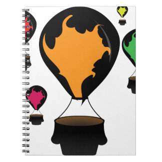 Hot air balloon notebooks