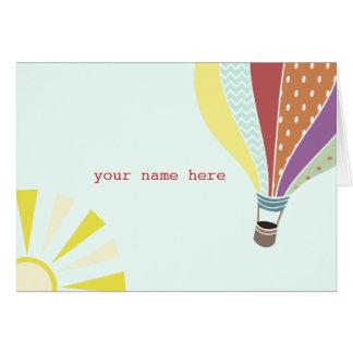Hot Air Balloon Notecard