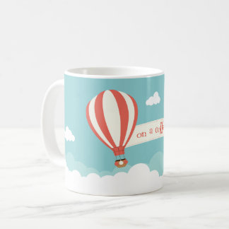 Hot Air Balloon 'On A Coffee High' Coffee Mug