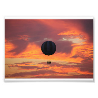Hot Air Balloon on Fire in the Sky Photo Print