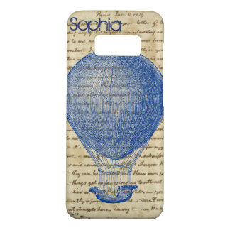 Hot Air Balloon on Vintage Handwriting Add Name Case-Mate Samsung Galaxy S8 Case