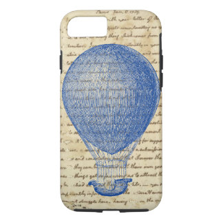 Hot Air Balloon on Vintage Handwriting Case-Mate iPhone Case