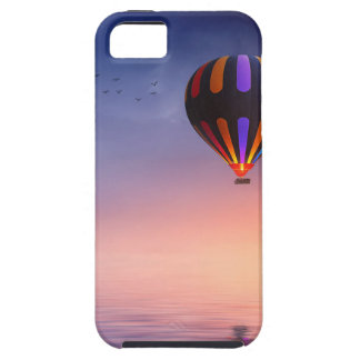Hot Air Balloon over the Ocean at Sunset iPhone 5 Cases