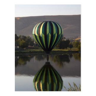 Hot air balloon over the Yakima River 2 Postcard