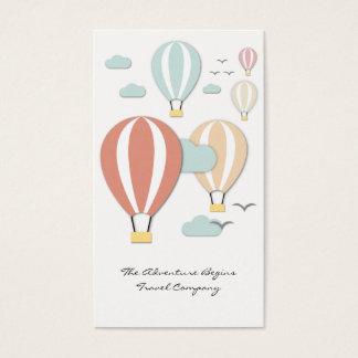 Hot Air Balloon Papercut Style Business Card
