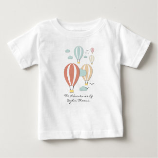 Hot Air Balloon Papercuts Baby T-Shirt