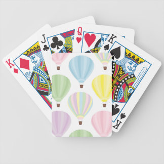 Hot Air Balloon Pastel Pattern Bicycle Playing Cards