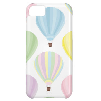 Hot Air Balloon Pastel Pattern iPhone 5C Cases