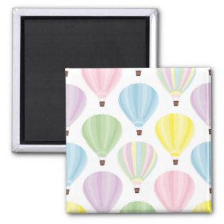 Hot Air Balloon Pastel Pattern Magnet