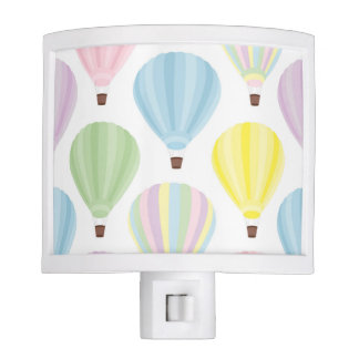 Hot Air Balloon Pastel Pattern Nite Light