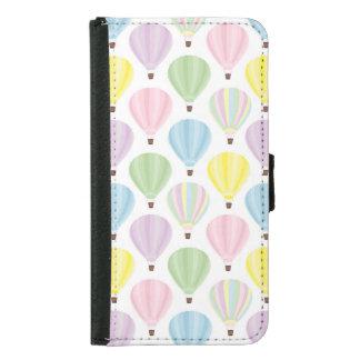 Hot Air Balloon Pastel Pattern Samsung Galaxy S5 Wallet Case