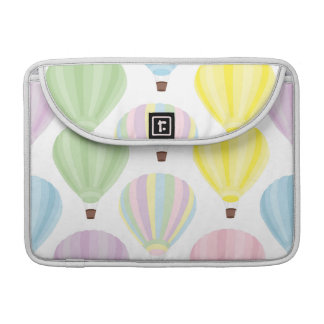 Hot Air Balloon Pastel Pattern Sleeves For MacBook Pro
