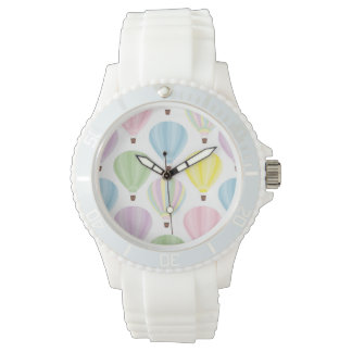 Hot Air Balloon Pastel Pattern Watch