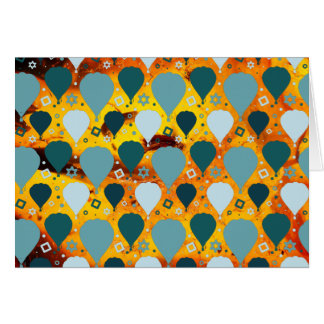Hot air balloon pattern card