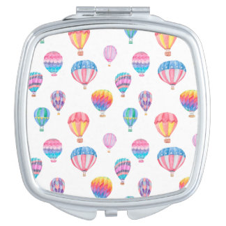 Hot Air Balloon Pattern Compact Mirror