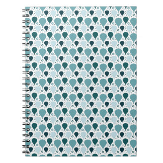 Hot air balloon pattern notebooks