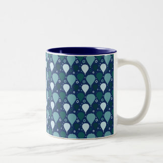 Hot air balloon pattern Two-Tone coffee mug