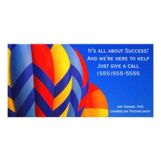Hot air balloon photo card
