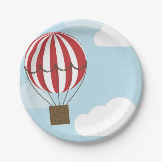Hot Air Balloon Plate 7 Inch Paper Plate