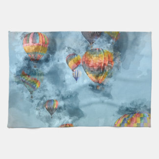 Hot Air Balloon Race in Reno Nevada Hand Towels