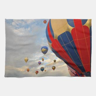 Hot Air Balloon Race in Reno Nevada Kitchen Towel
