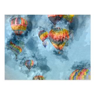 Hot Air Balloon Race in Reno Nevada Postcard