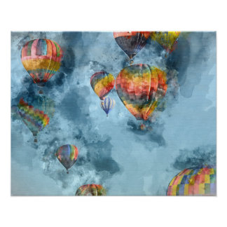 Hot Air Balloon Race in Reno Nevada Poster