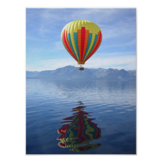 Hot Air Balloon Reflection Poster
