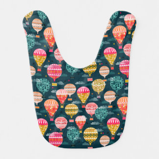 Hot Air Balloon Retro Vintage / Andrea Lauren Bib