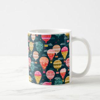 Hot Air Balloon Retro Vintage / Andrea Lauren Coffee Mug