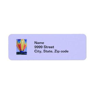 Hot Air Balloon Return Address Label