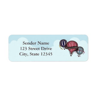 Hot air balloon return address labels