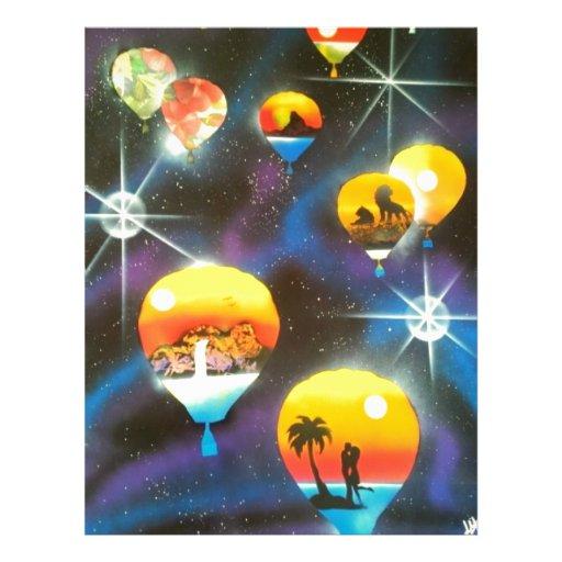 Hot Air Balloon Ride Letterhead Design
