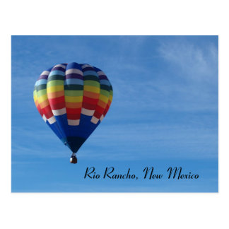 Hot air balloon, Rio Rancho, New Mexico Postcard