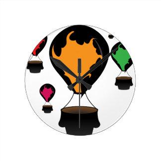 Hot air balloon round clock