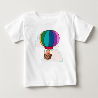 Hot Air Balloon Sloth Baby T-Shirt