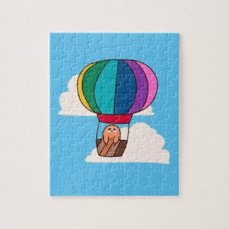 Hot Air Balloon Sloth Jigsaw Puzzle